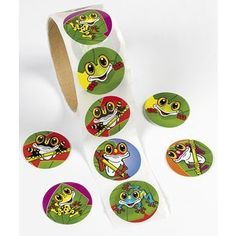 $1.99 for: Frog Roll Stickers ~ 100 stickers per roll ~ http://www.amazon.com/dp/B005LE9WJK/ref=cm_sw_r_pi_dp_klyLrb11JSNXA