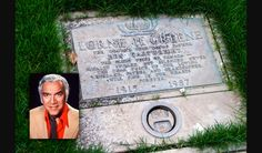 Lorne Greene of Bonanza fame Cemetery Headstones, Old Cemeteries, Cemetery Art, Graveyards, Tombstone Epitaphs, Titanic Artifacts, Famous Tombstones, Lorne Greene, Famous Graves