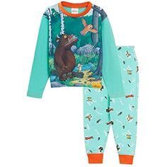Sapphire Collection Children Boys Pyjamas Plain Long Sleeve Top /& Woven Check Printed Bottom
