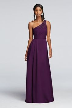 Long Illusion Lace and Satin Dress F18058