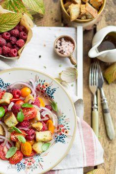 SAŁATKA Z POMIDORÓW I MALIN / salad with tomatoes and raspberries