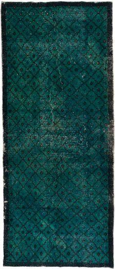 vintage overdyed loom rug