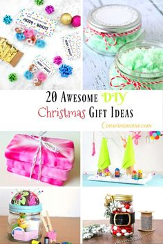 Here's a fun Round up of 20 Awesome DIY Christmas Gift Ideas that are perfect for even the pickiest people on your list. Easy to make and fun for everyone.