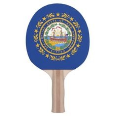 Ping pong paddle with Flag of New Hampshire USA - home gifts ideas decor special unique custom individual customized individualized