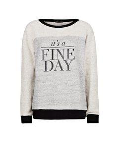 Suéter algodão fine day