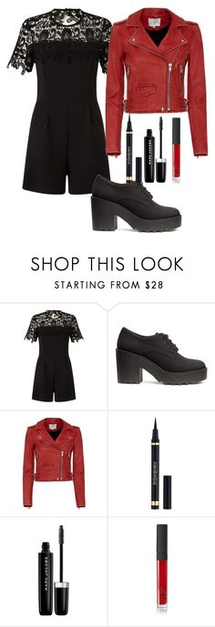 """Untitled #168"" by alexmlenek on Polyvore featuring Miss Selfridge, H&M, IRO, Yves Saint Laurent, Marc Jacobs and NARS Cosmetics"