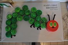 Audrey's Hungry Caterpillar birthday cake