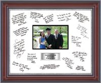Autograph Frames - Autograph Frame in Kensington Silver with White and Black Mats #EarnItFrameIt @diplomaframe