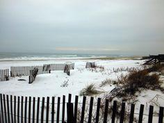 Snow on the beach in Nags Head. :: January 31, 2014 :: #SnOBX
