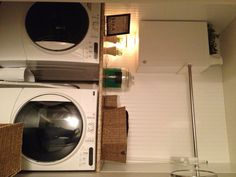 Laundry room... shower curtain tension rod for drying