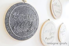Imagine Gnats - sewing sayings embroidery pattern and printables http://www.etsy.com/listing/153083797/sewing-sayings-embroidery-pattern-and