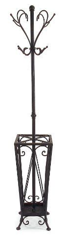 IMAX Coat Rack/Umbrella Stand by IMAX. $102.26. Material Wrought iron. Height 67.75. Length 16.5. Width 17. This iron coat rack/umbrella stand is functional and tasteful.. Save 30% Off!