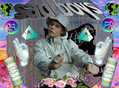 """- MUSIC -  Yung Lean, a swedish rapper who has come up these passed years. His music videos portrays a soft pop, internet feel, including emoticons, emojis and more. He is really known to represnt this type of style and really brought this type of lifestyle to the hiphop scene. He is most known for his music video Hurt -> https://www.youstgrSjynPKstube.com/watch?v= Where it portrays a self made video using graphics, etc. Here is his most recent youtube video for """"Diamonds"""""""