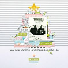 #Papercraft #Scrapbook #Layout. Dear Santa by MelindaSpinks at @studio_calico