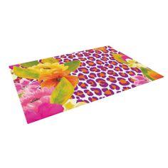 """Aimee St. Hill """"Leopard Pink"""" Indoor / Outdoor Floor Mat   KESS InHouse"""