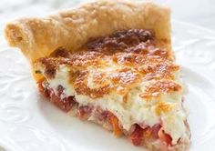 Fresh chopped tomatoes, basil and onions, topped with mixture of shredded cheese and mayonnaise, baked in a pie shell. This is the best recipe for tomato pie that I have tried. Pie Recipes, Cooking Recipes, Recipies, Bean Recipes, Cheese Recipes, Yummy Recipes, Vegetable Recipes, Vegetarian Recipes, Baked Parmesan Tomatoes