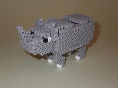 DIY 3D Rhino perler beads - Photo tutorial