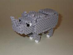 DIY 3D Rhino perler beads - Photo tutorial