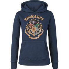"Felpa donna blu ""Hogwarts"" di #HarryPotter."