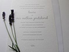letterpress stylish invitations