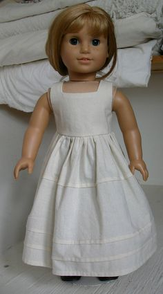 American Girl doll pure unbleached cotton by ExquisitelyUpcycled