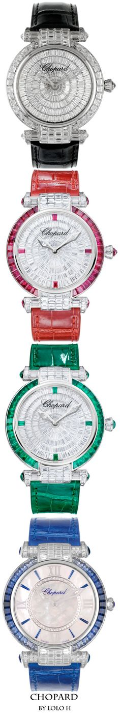 Diamond Watches Ideas : Chopard Watches - Watches Topia - Watches: Best Lists, Trends & the Latest Styles Dream Watches, Cool Watches, Watches For Men, Women's Watches, Ring Armband, Swiss Luxury Watches, Beautiful Watches, High Jewelry, Jewelry Watches