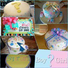 Gender party cake!