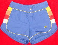 Killer vintage board shorts     Vintage 80's Hobie board shorts. $29.99, via Etsy.