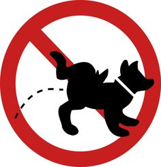 No Dog Peeing Sign Clipart