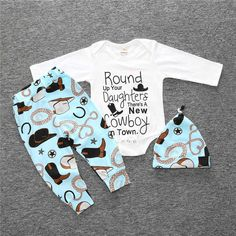 >> Click to Buy << New 2017 Fashion Baby Boy Clothing Cotton Print Long Sleeve T-Shirt + Pants + Hat Baby Clothing 3 Pieces Baby Clothing Set #Affiliate