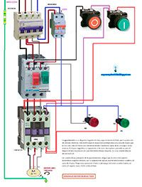 Esquemas eléctricos: arranque motor marcha y paro con guardamotor