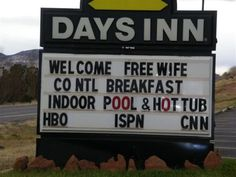 Free Wife? Really? Is that for everybody or just guys? I can do with a wife...then maybe I can sleep like a husband.