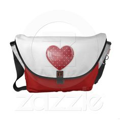 Heart and balloon messenger bag