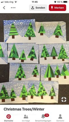 christmas art Trendy green tree crafts for kids Ideas Christmas Art Projects, Winter Art Projects, Christmas Card Crafts, Christmas Tree Crafts, Preschool Christmas, Winter Crafts For Kids, Christmas Activities, Winter Christmas, Christmas Cards From Kids