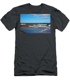 Beach Men's T-Shirt (Athletic Fit) featuring the photograph Perfect Beach Day by Cynthia Guinn
