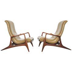 Vladimir Kagan Adjustable Lounge Chairs