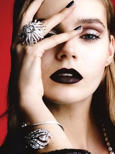 Dramatic Holiday look * Photo by Ben Hassett.