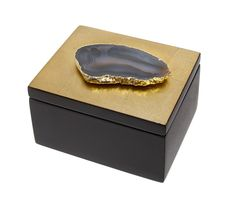 Luxe Agate Gold Leaf Box Desk Box Inspiring Interior Design Fans With Unique Luxury Hollywood Home Decor & Gift Ideas     From InStyle-Decor.com Beverly Hills Enjoy & Happy Pinning