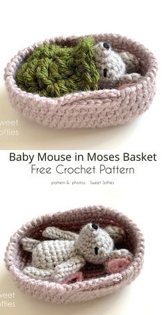 crochet patterns for baby Sleeping Baby Mouse Free Crochet Patterns Crochet Diy, Crochet Mouse, Crochet Bear, Crochet Gifts, Crochet Animals, Crochet Patterns Amigurumi, Crochet Dolls, Baby Crochet Patterns, Crochet Appliques
