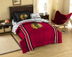 NHL Chicago Blackhawks TWIN Size Bed In A Bag · Hockey BedroomBoys Bedroom  DecorBedroom ...