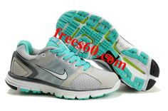 frees60.com for half off nike shoes $54.1 , Womens Nike Lunarglide 2 Gray Jade Shoes