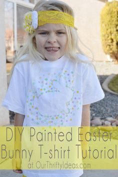 I never knew that it was so easy to paint your own shirt, and you can use normal paint from the craft store too! Easy Diy Crafts, Crafts For Kids, Easter Crafts, T Shirt Tutorial, Vinyl Projects, Easy Projects, Baby Boy Fashion, Easy Paintings, T Shirt Diy