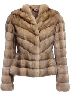 LISKA Sable Fur Coat ~ too rich for me, but I love the way the pelts are set and the little peplum ~