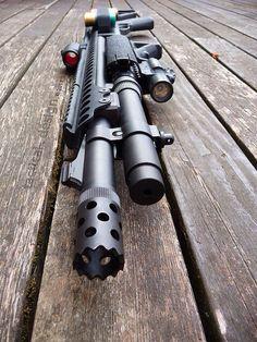 Remington Tactical 870 shotgun.
