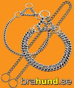 Hundhalsband av metall http://brahund.se/