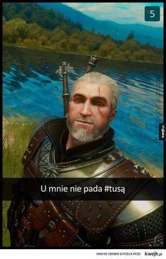 A u nas pada i pada - Ministerstwo śmiesznych obrazków Witcher Art, Witcher 3 Wild Hunt, The Witcher 3, Snapchat Art, Why Are You Laughing, Most Popular Games, Ciri, Art Memes, The Neighbourhood