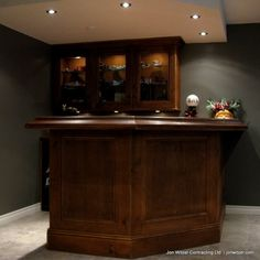 basement bar - size and layout (not actual bar)