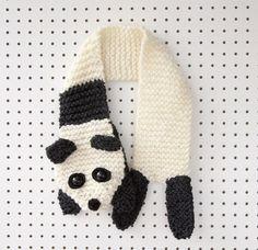 Knitting Kit: Beginners Super Chunky Panda Scarf Pattern and Yarn Knitting Help, Knitting Kits, Arm Knitting, Knitting Projects, Crochet Panda, Christmas Knitting Patterns, Crochet Patterns, Crochet Scarves, Crochet Hooks
