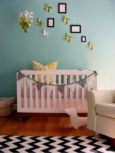 30 Gender Neutral Nursery Design Ideas | Kidsomania - for next baby (neutral decor ideas if I don't find out sex beforehand)