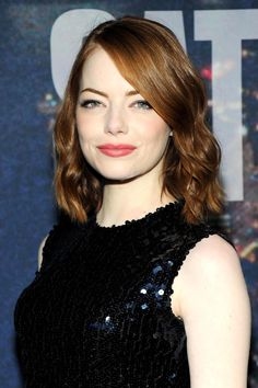 Emma Stone Wearing Dior at Saturday Night Live 40th Anniversary Celebration in New York City